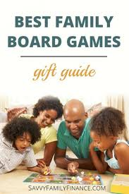 Family Playing Board Game With Text Overlay