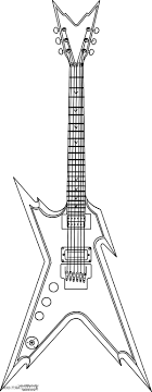 Electric Guitar Coloring Page Pages To Print Ideas