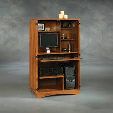 Sauder Edge Water Computer Desk Estate Black by Furniture Sauder Harvest Mill Computer Armoire