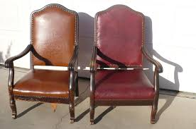 Antique High Back Copper Studded Leather Chairs In... - The ... Pair Of Italian Vintage Highback Chairs 1980s Ding Room High Back Chairs Kallekoponnet Amazoncom Vidaxl Luxury Chair Tufted Queen Anne Style Upholstered Wing For Sale At 1stdibs 4b In 2019 Back Btexpert 24 Industrial Clear Metal Antique Stools Brown With Vintage Style Frame Teak Wood High Center Table Hot Item Fniture Straight Purple Dollhouse Farmhouse Rustic Zen Zoom Beautiful Set Ten 20th