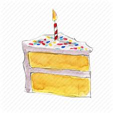 birthday cake dessert slice sprinkles sweet vanilla icon