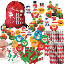 Amazoncom 84 Piece Christmas Holiday Party Favors Bulk Assortment