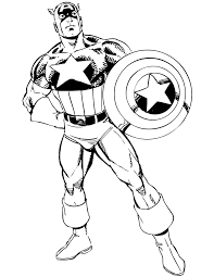 Classic Captain America Coloring Page