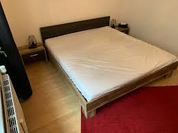 schlafenzimmer set bettgestell kleiderschrank 2 nachtschränke