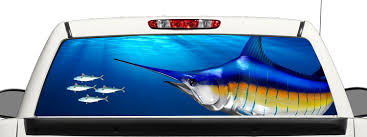 Buy Truck SUV Blue Marlin Fishing Rear Window Graphic Decal ... Tampa Fl Mobile Advertising Rear Window Truck Graphics For Ford Graphic Decal Sticker Decals Custom For Cars Best Resource Realtree Camo 657332 Related Keywords Suggestions Stairway To Heaven Nw Sign Solutions See Through Perforation Fort Lauderdale American Flag Better Elegant Vuscape Made In Michigan Chevy Fire Car Suv Grim Pick Up