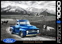 1954 Ford F-100 -Heritage Ranch - 1000 Piece Jigsaw Puzzle | 1000 ... 1954 Ford F100 Pick Up Truck Drivers Wanted For Sale Youtube Lacourly Motors The Twotone Paint Job Truck Enthusiasts Forums Trucks C500 Bottlers A Photo On Flickriver Review Amazing Pictures And Images Look At The Car Burnyzz American Classic Horse Power Why Nows Time To Invest In Vintage Pickup Bloomberg Photo Gallery 01959 Fordtruck F 100 54ft2284c Desert Valley Auto Parts Grilles Hot Rod Network 54 Famous 2018