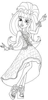 Free Printable Monster High Coloring Pages Draculaura 13 Wishes Page