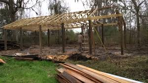 Four Minute Pole Barn - YouTube How Much Does A Pole Barn Cost Youtube Green Oak King Post Trusses And Purlins Watford Ldon Pole Roof Question Log Purlin End Cabin Google Search Cabin Help Page 2 Midwest Eeering Custom Barn Design All Steel Pipe Creek Texas Carport Patio Free Plans Best 25 Designs Ideas On Pinterest Shop Timelapse Installing A 230x12 Open Kit With Inside Walls Insulation Roof Purlins Size Z Sections Standard Profile Purlin Tables Sc