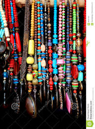 Indian Handicrafts Of Colorful Beads Stock Image
