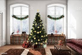 klassisch und stilvoll weihnachten wohnzimmer stockfoto und mehr bilder altertümlich