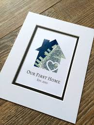 Our First Home Personalized Map Matted Gift New House Housewarming Anniversary Or Wedding