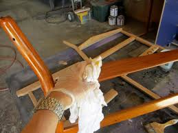Used Wooden Captains Chairs by How To Refinish A Vintage Midcentury Modern Chair Diy