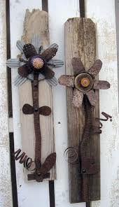 Rustic Decorative Flower Wall Art Set Of 2 By RusticSpoonful Industrial Homedecor Walldecor