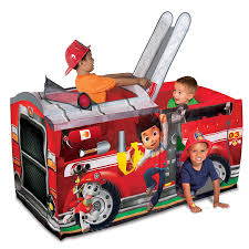 Amazon.com: Playhut Paw Patrol Marshall Fire Truck Playhouse: Toys ...