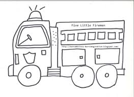 100 Fire Truck Template Engine Coloring Pages Arendastroy