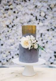 This Wedding Cake From Sweet Bakes Boasts Modern Elegance With Its Golden Pattern And Clean Lines