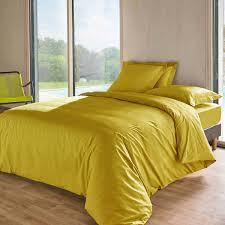 tutti tempo drap housse 140 x 190 cm jaune moutarde drap housse