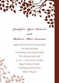 Fall Leaf Wedding Invitations With Free Response Cards EWI030