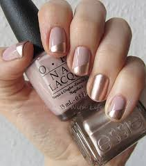 Beige and Gold Nail Design Pretty Designs