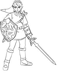 The Legend Of Zelda Coloring Pages Link