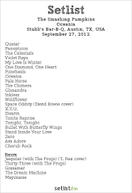 Smashing Pumpkins Acoustic Tour Setlist by September 2012 The Metal Files