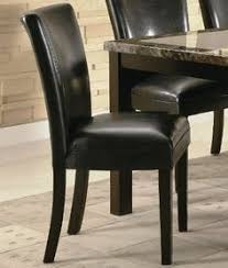 Set Of 2 Parson Dining Chairs In Black Faux Leather By Coaster Home Furnishings 13616