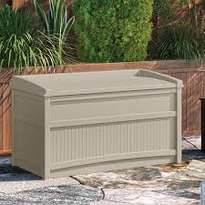 suncast 50 gallon resin deck box reviews wayfair