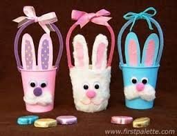 How To Make These Adorable Easter Bunny Baskets Out Of Paper Cups Inside Art And Craft For Kids With Step By