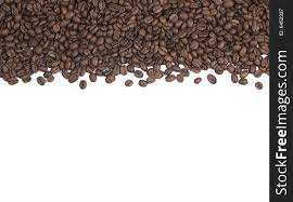 Coffee Beans Background Or Border
