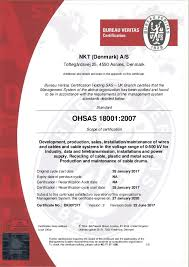 bureau veritas benin certificates nkt