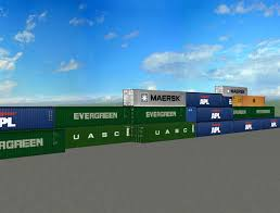 100 Shipping Containers 40 Ft 3D Model In 3DExport