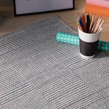 tapis coton tisse a plat tapis en plastique tissé rendu coton larges carrés bicolores