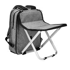 BigTron Multi-Functional Backpack Stool Combo - Large Capacity Backpack And  Portable Folding Cooler Chair- Perfect For Camping Fishing Hiking Picnic ...