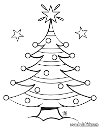 Christmas Trees Coloring Pages Decorated Tree Hellokids To Download