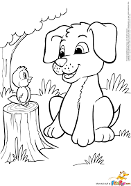 Free Coloring Pages Of Puppies With Mom