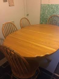 Extendable Wooden Dining Table With Six Chairs Oak Uk Used For Sale ...