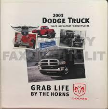 100 2003 Dodge Truck Ram 15003500 Repair Shop Manual Original 2 Volume Set