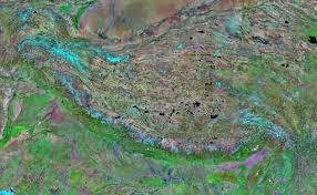 mountain ranges of himalayas himalaya mountain range satellite image map