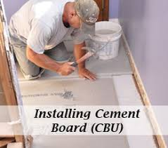 how to install cement board cbu for floor tile one project closer