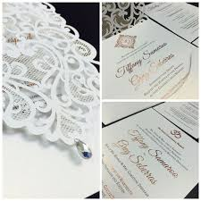 Gorgeous White Laser Cut Wedding Invitation With Rose Gold Foil For Our Fab Bride Tiffany Whim Event Coordination And Design Toronto Ontario Luxury