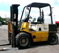 100 Yale Lift Trucks Gdp060 Forklift 6000 Lb Pneumatic Tire Diesel Truck Hyster