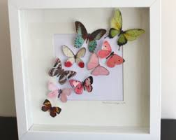 Elegant 3D Butterfly Framed Wall Art 65 On Paneled With
