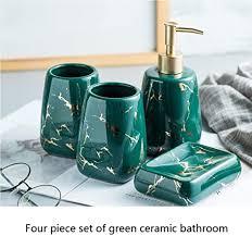 zyr keramik bad accessoires set 4 teiliges edles stilvolles