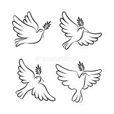 Download Flying Dove Vector Sketch Set Dove Peace Stock Vector Image