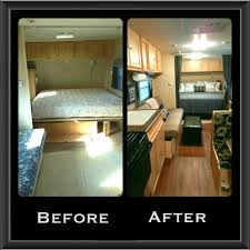For Sale Trailer Remodel New Flooring Curtains Bedding