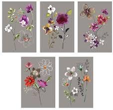 5 pcs ikea kort card city flowers 10 x 15 cm suitable
