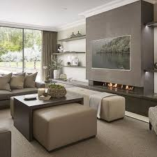 Wall Mounted TVs As An Living Room Decor 15 Inspirations For