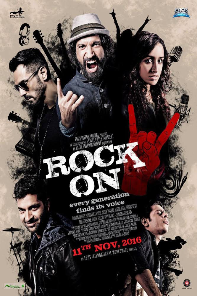 Rock On 2 Hindi Movie Free Download 2016 720p BluRay
