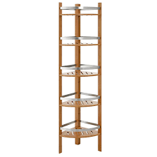 Teak Bathroom Corner Shelves by A Trick To Grab Bathroom Corner Shelf With Low Budget Hometutu Com