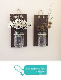Perfect Mason Jar Wall Sconce Set Of Two Hand Crafted Rustic
